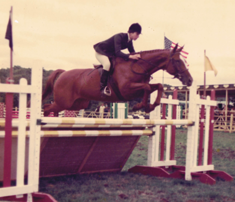 Janet on Curtain Call, North Shore Horse Show, 1973